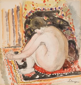 A Seated Female Nude in an Interior