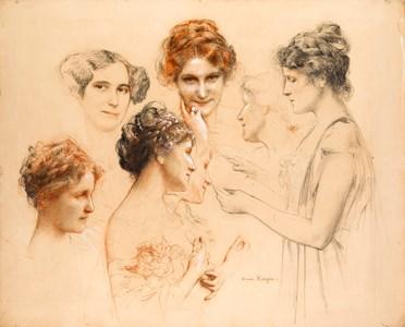 A Sheet of Studies of Women