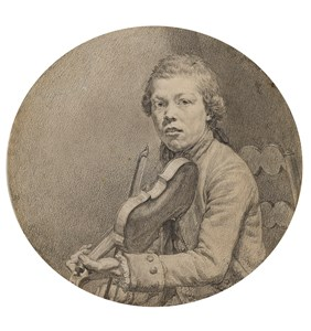 A Young Man Playing a Violin