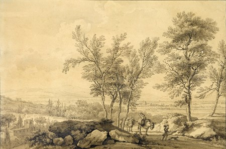 Italianate Landscape with Peasants and Donkeys