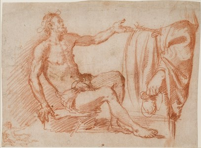 Studies of a Seated Beggar and a Standing Figure Holding a Purse