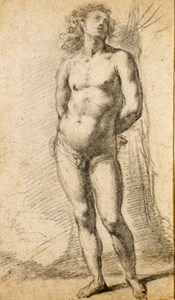 Study of a Standing Male Nude: Saint Sebastian