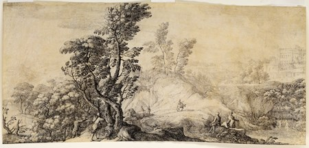 Landscape with Travellers and a Walled Town in the Distance