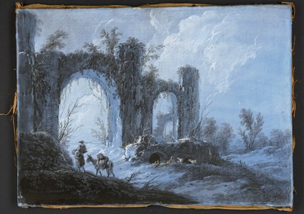 Landscape with Figures by the Ruins of a Roman Aqueduct