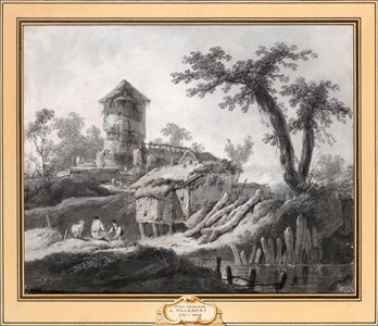 River Landscape with a Ruined Tower