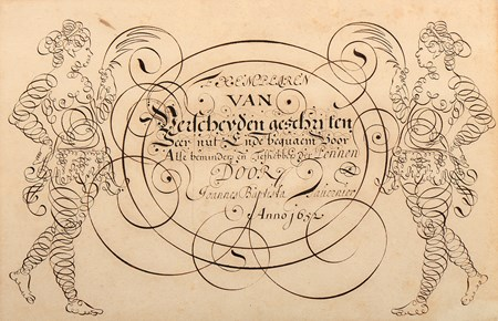 A Calligraphic Design for a Frontispiece