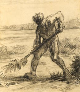 A Peasant at Work in a Field