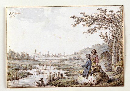 Landscape with a Fisherman and a Woman