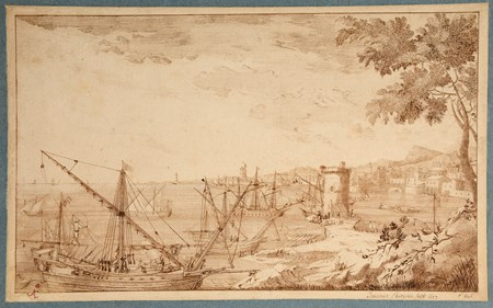 An Italianate Coastal Landscape with Shipping