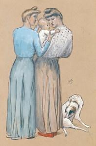 Women and Child with a Dog (Maternité au chien)