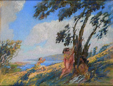 Faun and Nymphs in a Landscape