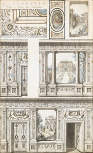 Designs for a Trompe l'Oeil Wall Decoration