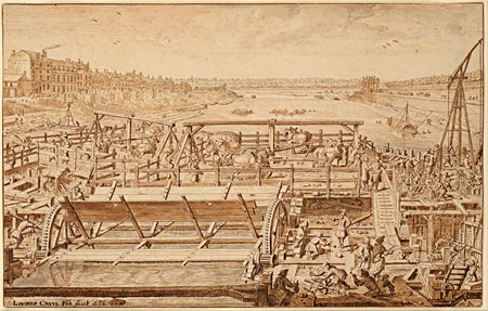 The Construction of the Pont Royal, Paris, in 1686