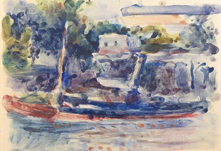 A Tugboat on the Quai Bucherelle, Pontoise