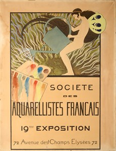 Design for the Poster for the 19th Annual Exhibition of the Société des Aquarellistes Français, Paris, 1897