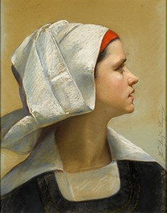 A Young Breton Woman from Fouesnant