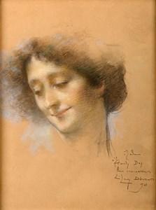Portrait of Naile Hanim, Mme. Hamdy Bey