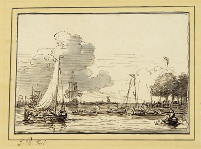 Coastal Scene with Shipping