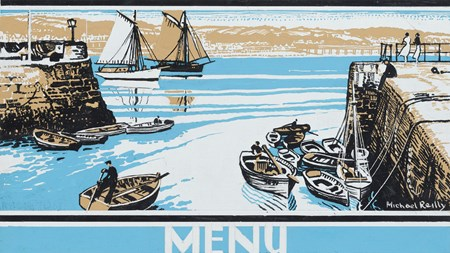 Paignton, Devon: Design for a Great Western Railway menu card