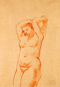 Nude Combing her Hair (Femme nue se coiffant)
