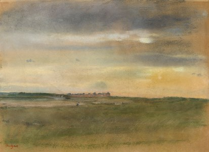 Coastal Landscape at Sunset, with a View of Cabourg (Paysage, soleil couchant)