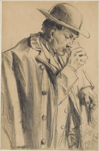 A Man Drinking