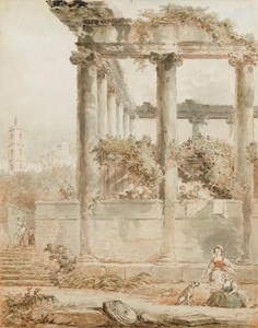 Landscape with the Temple of Saturn, Rome