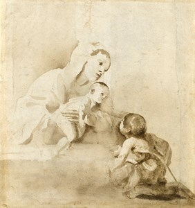 The Virgin and Child with the Young Saint John the Baptist [recto]; Study for a Deposition [verso]