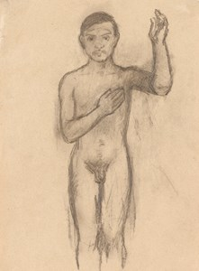Nude Self Portrait with Raised Arm (Autoportrait au bras levé)