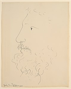 The Head of a Bearded Man in Profile