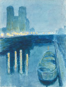 Nocturne: A Barge on the Seine