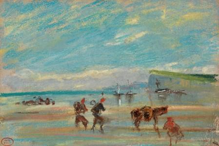 Coastal Scene, Normandy (Atmosphère transparente, côte normande)