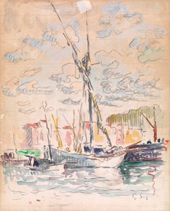 Boats in the Harbour of Saint-Tropez