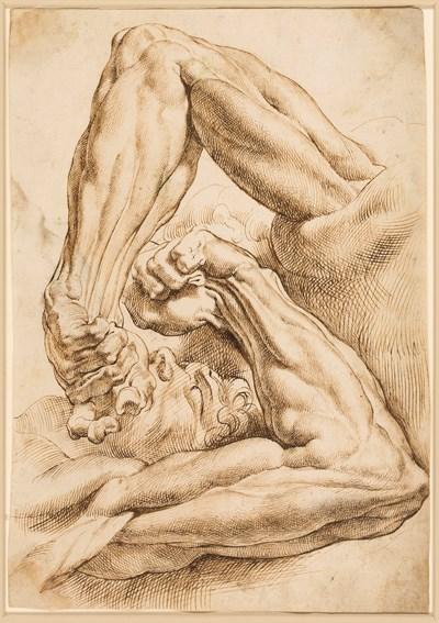 Peter Paul Rubens A Sheet Of Anatomical Studies A Left