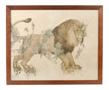 A Lion: Study for the Morris & Co. Tapestry 'The Forest', 1887