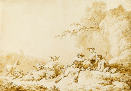 Pastoral Scene with a Shepherd and Shepherdess