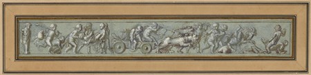 A Frieze of Putti with a Chariot