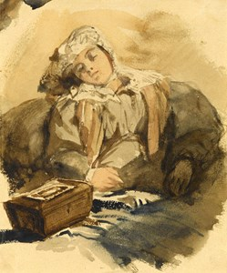 A Young Woman Asleep