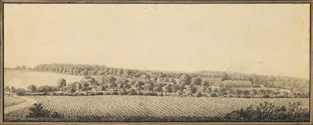 Panoramic Landscape near Dresden with a Country Estate