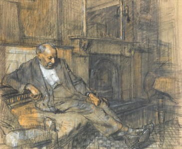 The Artist's Father Seated in an Interior
