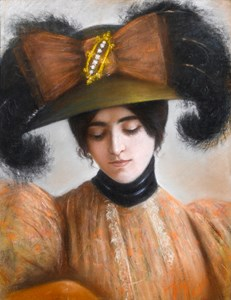 An Elegant Woman Wearing a Fancy Hat: Portrait of Cléo de Mérode