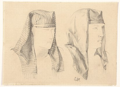 Two Studies of an Egyptian Headress