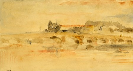 Landscape with the Bridge and Château of Blois in Fog