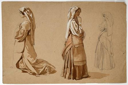 Three Studies of an Italian Peasant Woman