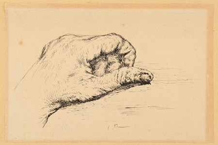 a. Study of the Artist's Left Hand; b. Study of the Artist's Right Hand