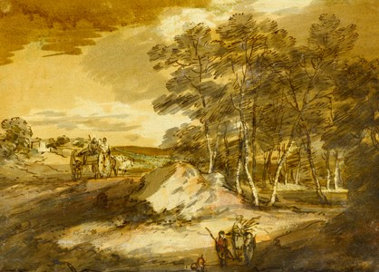 Wooded Landscape with a Country Cart and Faggot Gatherers