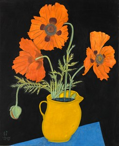Poppies in a Yellow Jug