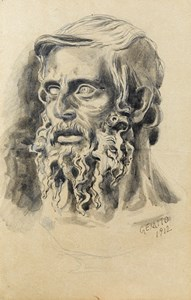 Study of a Bearded Man, Looking to the Left